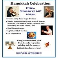 Community Hanukkah Service & Celebration