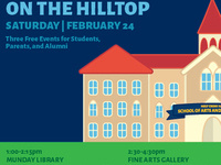 Art Stroll and Wine & Cheese Bar | Arts and Humanities on the Hilltop