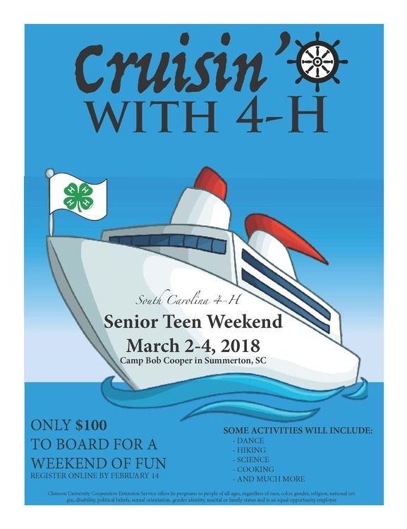 SC 4-H Senior Teen Weekend