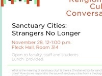 Center for Religion & Culture Conversation: Sancutuary Cities