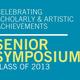 Senior Symposium Proposal Submission Deadline