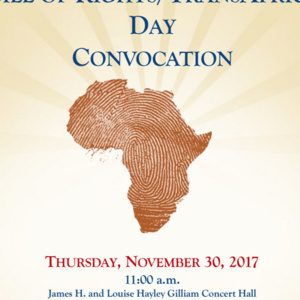 Bill of Rights/TransAfrica Day Convocation