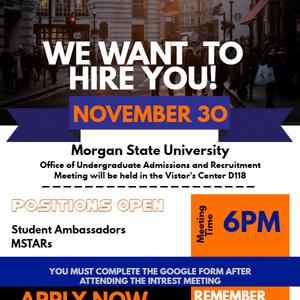 Student Ambassadors & M.S.T.A.R.S. Interest Meeting