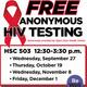 FREE, Anonymous HIV Testing