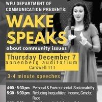 Wake Speaks Community Speech Showcase