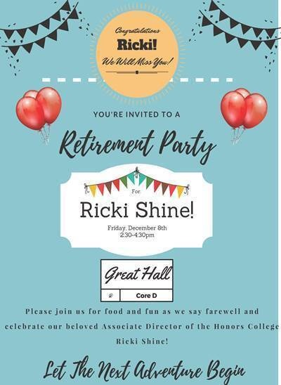 Retirement Party for Associate Director, Ricki Shine