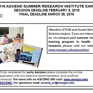 ASCEND Summer Research Institute