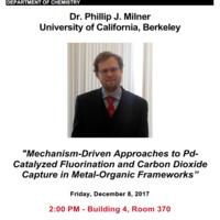 Special Seminar: Dr. Phillip J. Milner, University of California, Berkeley