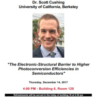 Special Seminar: Dr. Scott Cushing, University of California, Berkeley