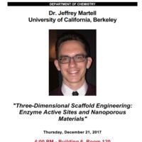 Special Seminar: Dr. Jeffrey Martell, University of California, Berkeley