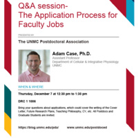 Q&A on the Application Process for Faculty Jobs