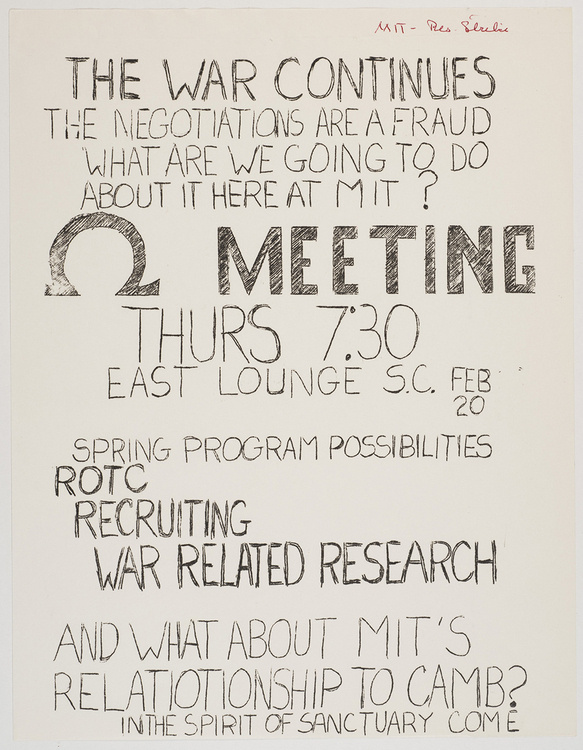 Get Up. Stand Up! History of Activism at MIT via a Glance at the Institute Archives