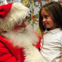 Santa Visits King Library