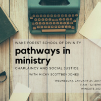 Pathways in Ministry: Chaplaincy and Social Justice