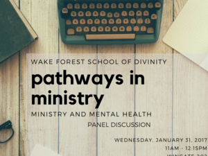 Pathways in Ministry: Ministry and Mental Health
