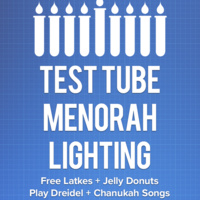 Test Tube Menorah Lighting