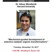 Special Seminar: Dr. Alison Wendlandt, Harvard University