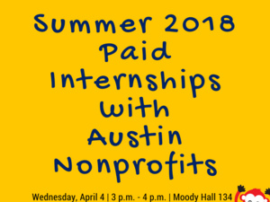 Meetup: Summer 2018 Paid Internships with Austin Nonprofits