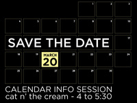New Online Calendar Study Break & Info Session