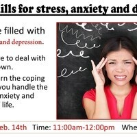 Coping skills for stress, anxiety and depression