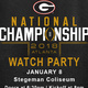 2018 College Football Championship Game Watch Party
