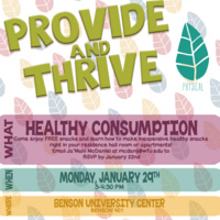 Provide & Thrive: Healthy Consumption
