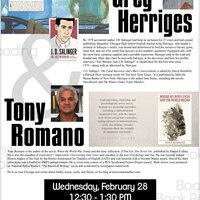 Greg Herriges & Tony Romano Book Reading