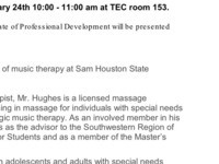 Music Therapy Professional Development with Marcus Hughes, MM, MT-BC, LMT