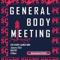 SCOPE: General Body Meeting