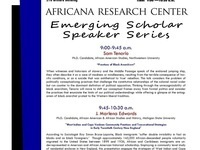 Emerging Scholar Speaker Series (Week 1)