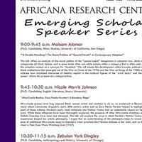 Emerging Scholar Speaker Series (Week 3)