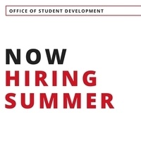 Now Hiring - Student Development