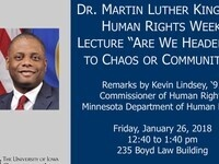 2018 Dr. Martin Luther King, Jr. Human Rights Week Lecture