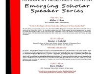 Emerging Scholar Speaker Series (Week 2)