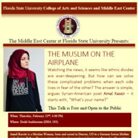 Middle East Center Guest Speaker: The Muslim on the Airplane