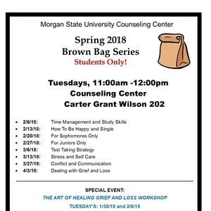 Spring 2018 Brown Bag Series: Time Management and Study Skills