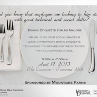 Dining Etiquette for Ag Majors