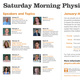 Saturday Morning Physics returns for Spring 2018