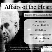 "Philosophy Circle event, ""Affairs of the Heart, Presented by Professor Elizabeth Rottenberg"