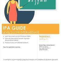 ESL Class Level 3- Low Intermediate Pronunciation IPA Guide