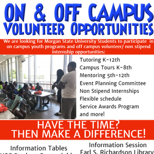 On and Off Campus Volunteer Opportunities Information sessions