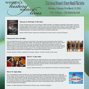 32nd Annual Women's History Month Film Series