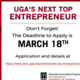 Competition: UGA's Next Top Entrepreneur