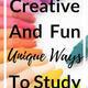 Creative Study Task!  NEW!