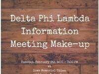 Delta Phi Lambda Make-up Information Session