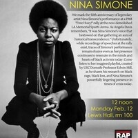 Race, Arts, & Placemaking (RAP) Event - Remembering Nina Simone