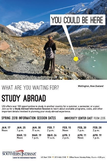 Study Abroad Information Session At University Center