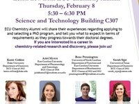 Interested in Getting a PhD? Learn how from ECU Chemistry Alumni