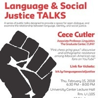Language & Social Justice TALKS: Cece Cutler