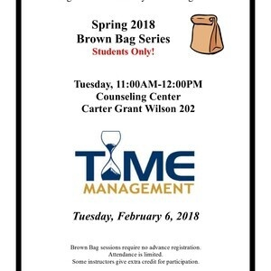 Brown Bag Series - Time Management and Study Skills